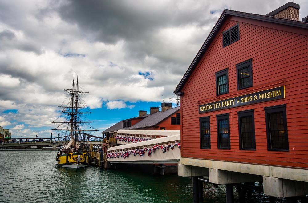 The Boston Tea Party Museum, in Boston, Massachusetts.-1